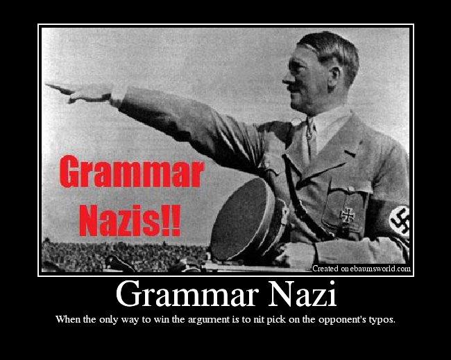 grammar nazi definition