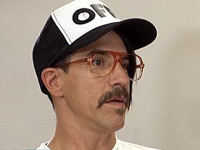 "Modern-day D'Artagnan Kiedis answers questions at the ""N4pole0n"" press conference"