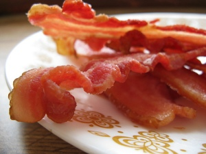 """Who the hell would ever even try to market """"chewy bacon?""""  Makes no goddam sense."""