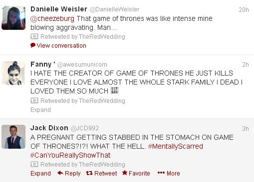 red wedding tweets