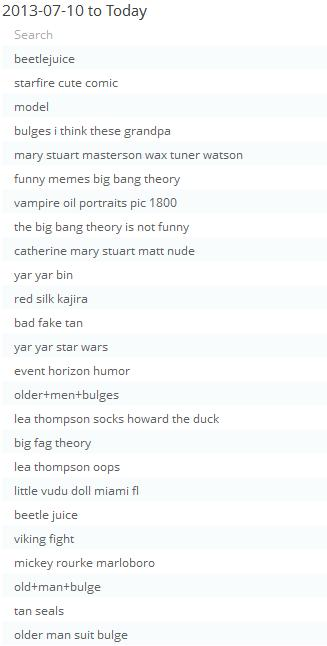 Always a hit, the search engine terms.  Creatively bankrupt?  Got some writer's block?  Check out the search engine terms.  Money in the bank, folks.