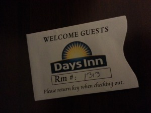 Our room number couldn't have been more perfect.