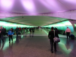 The tunnel between concourses at DTW.  It feels about two miles long.